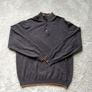 Bachrach brown wool blend pullover sweater size XL